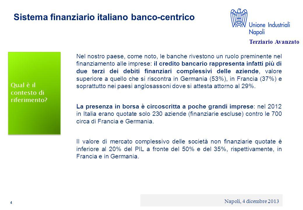 Sistema finanziario italiano banco-centrico
