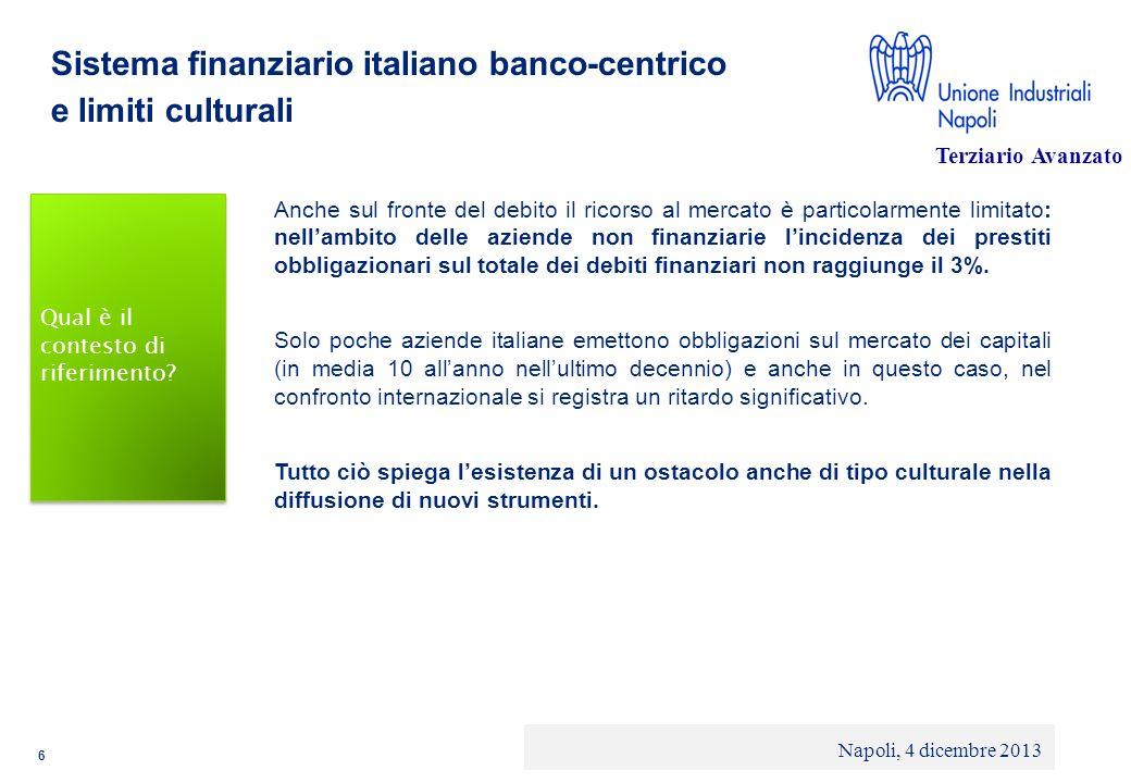 Sistema finanziario italiano banco-centrico e limiti culturali