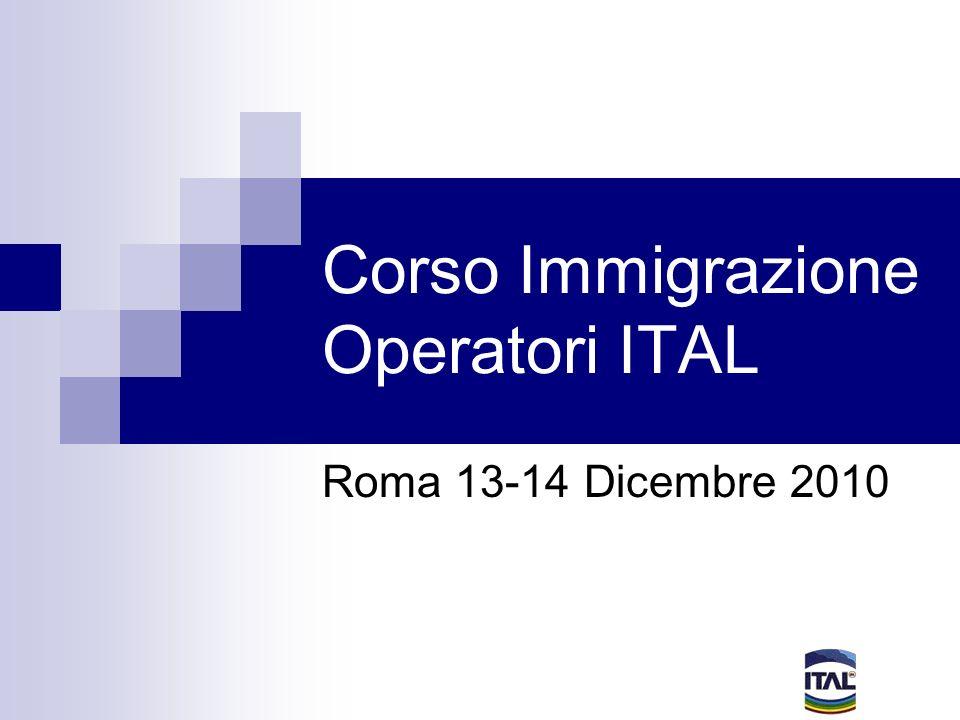 Corso Immigrazione Operatori ITAL