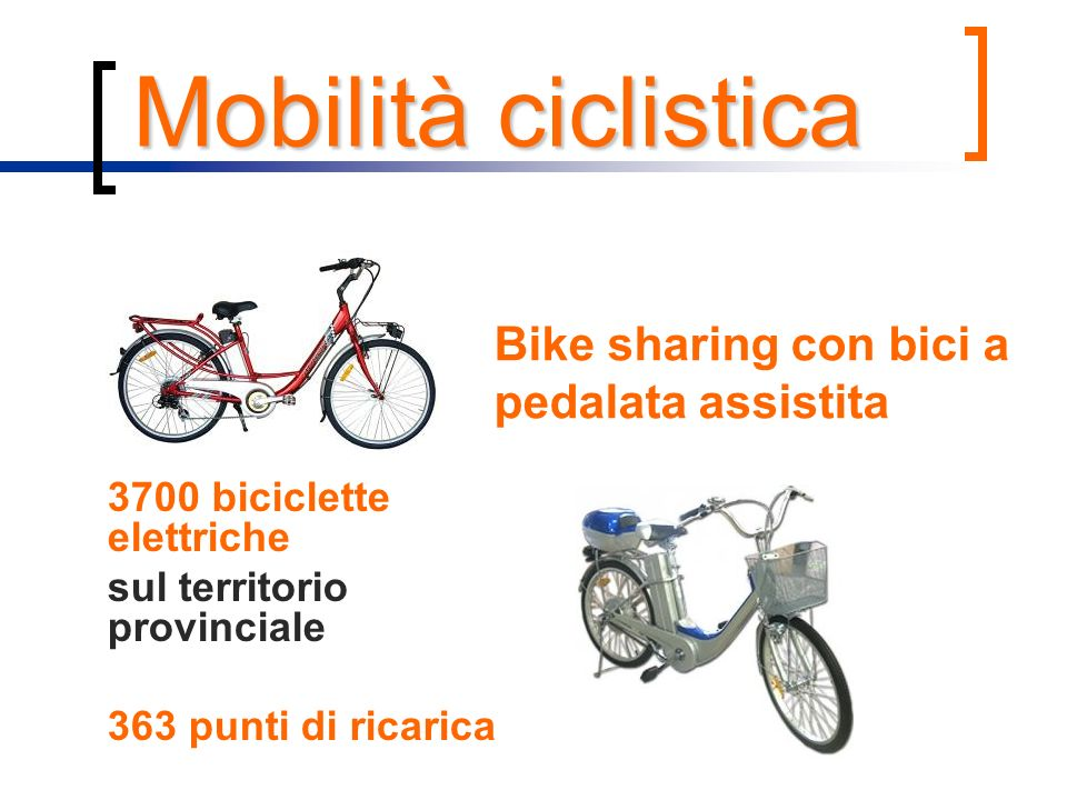 Bike sharing con bici a pedalata assistita