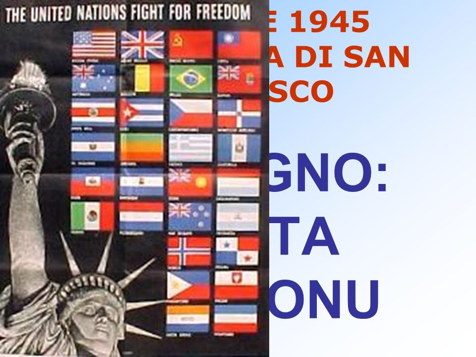 25 APRILE 1945 CONFERENZA DI SAN FRANCISCO