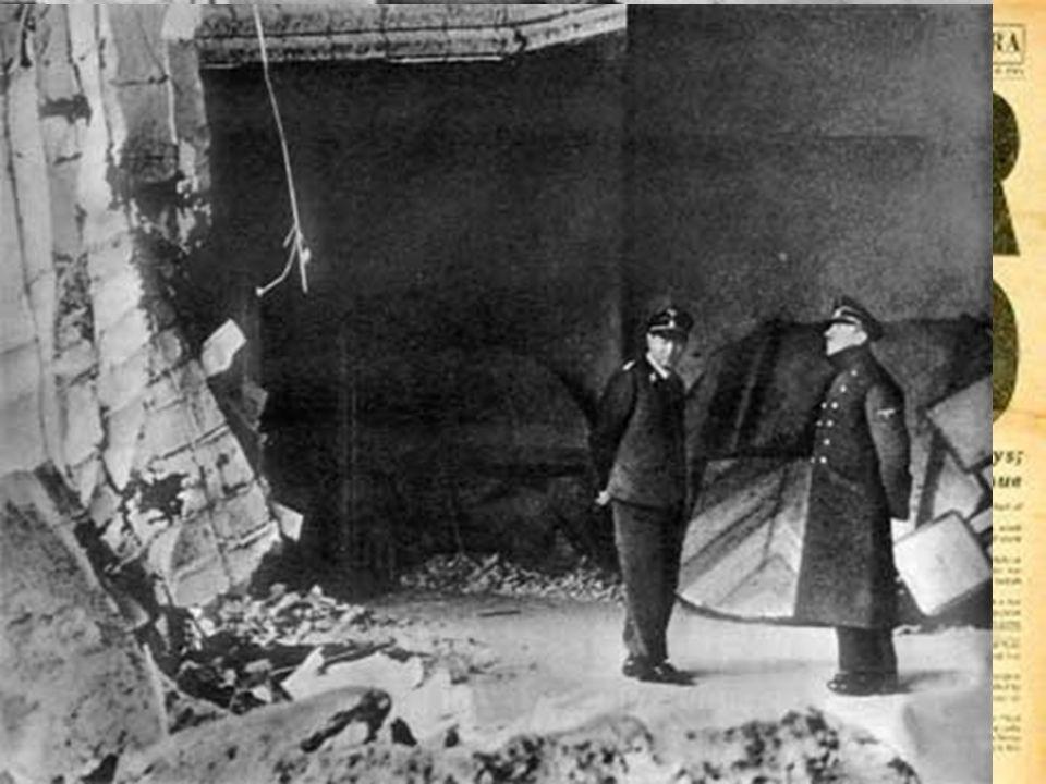 Il 30 aprile '45 Hitler si suicida nel bunker della Cancelleria di Berlino