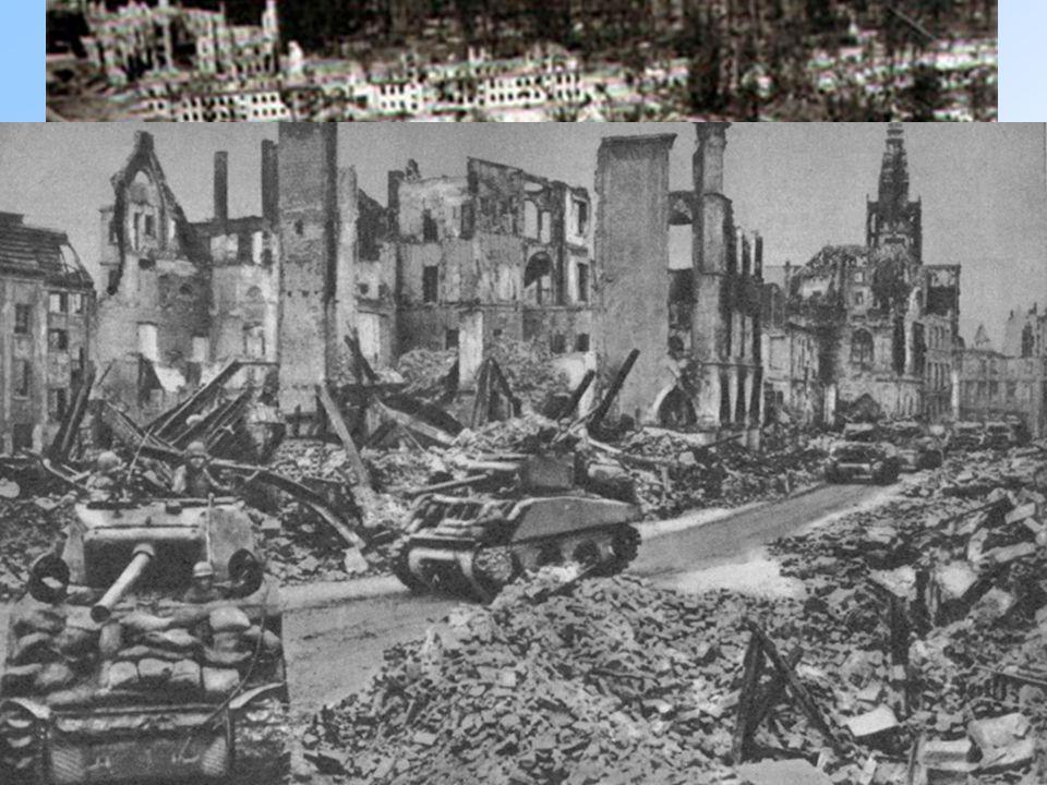 La Cancelleria distrutta dai bombardamenti