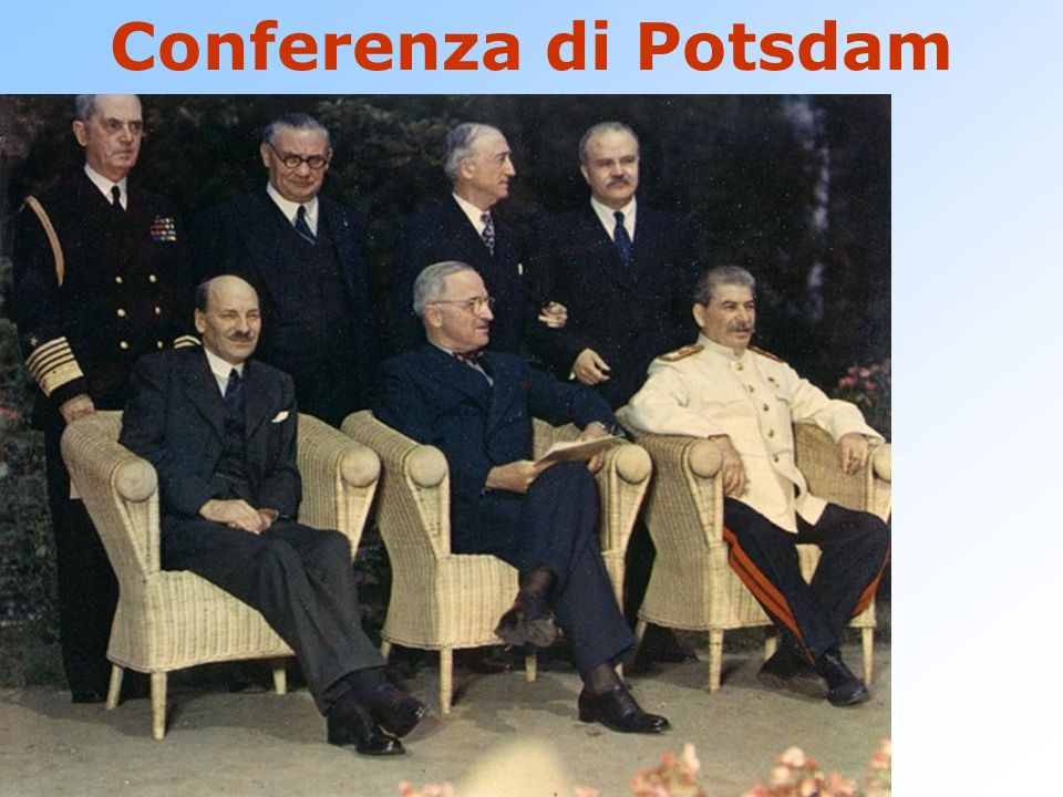 Conferenza di Potsdam Progetto Manhattan – Los Alamos. Bambini nati in modo soddisfacente Enola Gay.