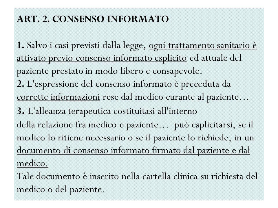 ART. 2. CONSENSO INFORMATO 1