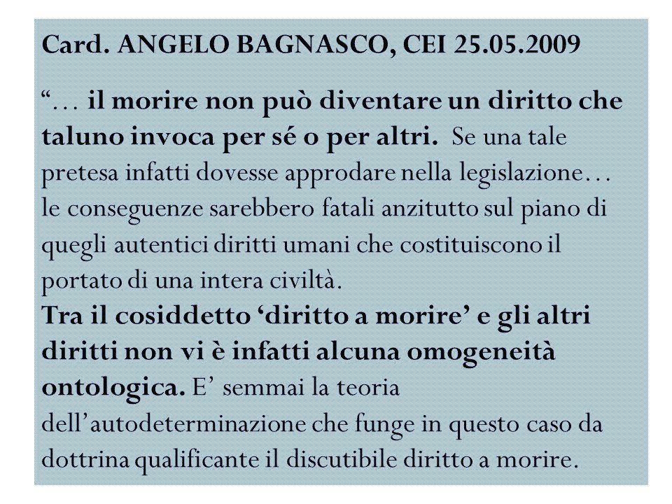 Card. ANGELO BAGNASCO, CEI 25. 05