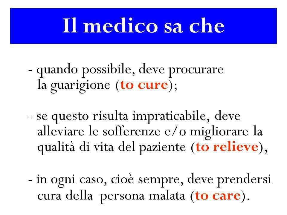 Il medico sa che la guarigione (to cure);