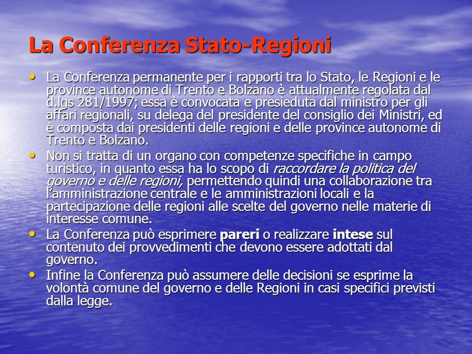 La Conferenza Stato-Regioni