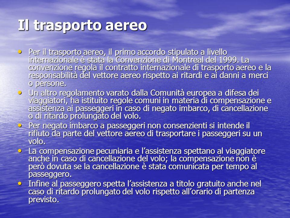 Il trasporto aereo