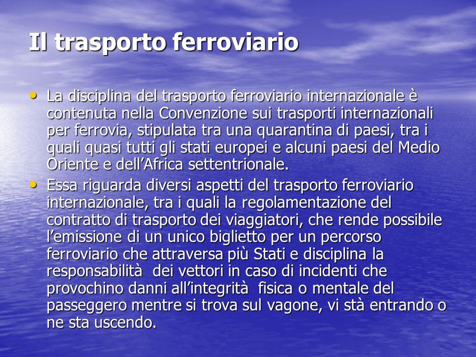 Il trasporto ferroviario