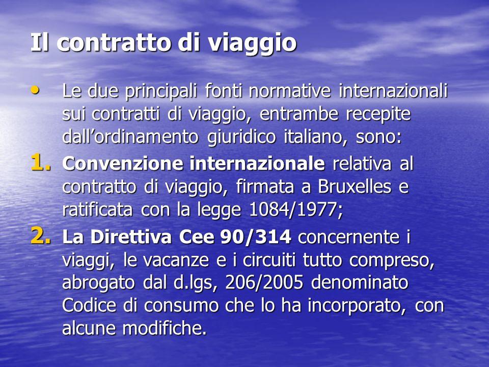 Il contratto di viaggio