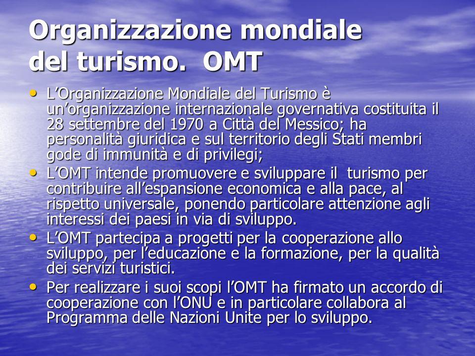 Organizzazione mondiale del turismo. OMT