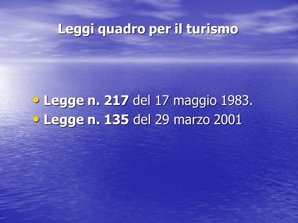 Leggi quadro per il turismo