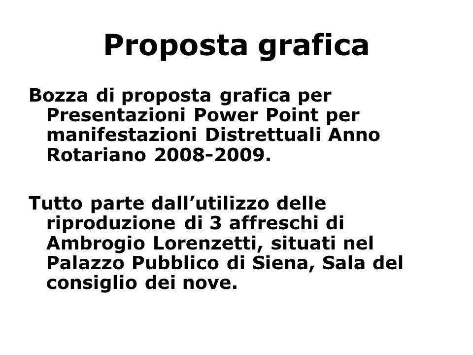 Proposta grafica Bozza di proposta grafica per Presentazioni Power Point per manifestazioni Distrettuali Anno Rotariano 2008-2009.