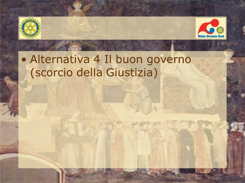 Alternativa 4 Il buon governo (scorcio della Giustizia)