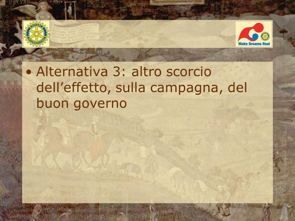 Alternativa 3: altro scorcio dell'effetto, sulla campagna, del buon governo