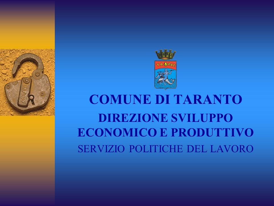 DIREZIONE SVILUPPO ECONOMICO E PRODUTTIVO