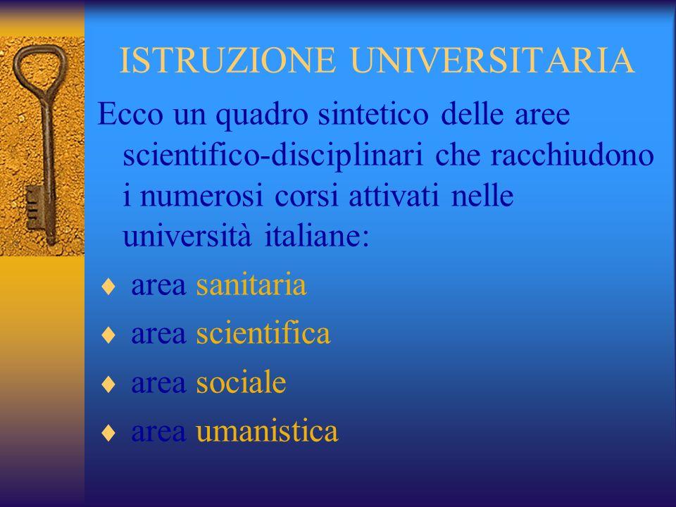 ISTRUZIONE UNIVERSITARIA