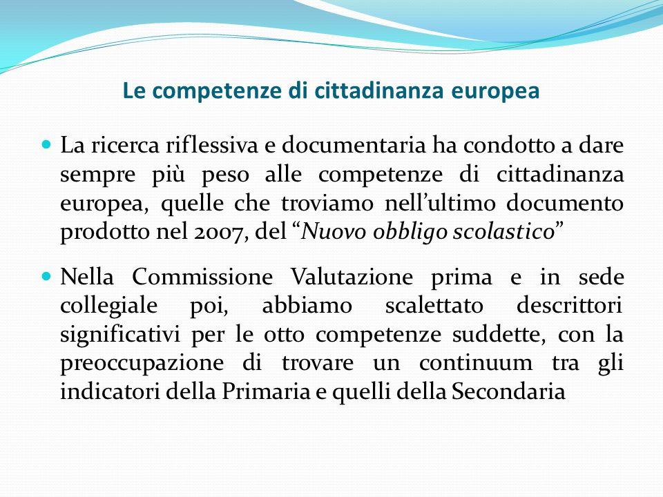 Le competenze di cittadinanza europea
