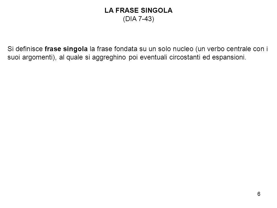 LA FRASE SINGOLA (DIA 7-43)
