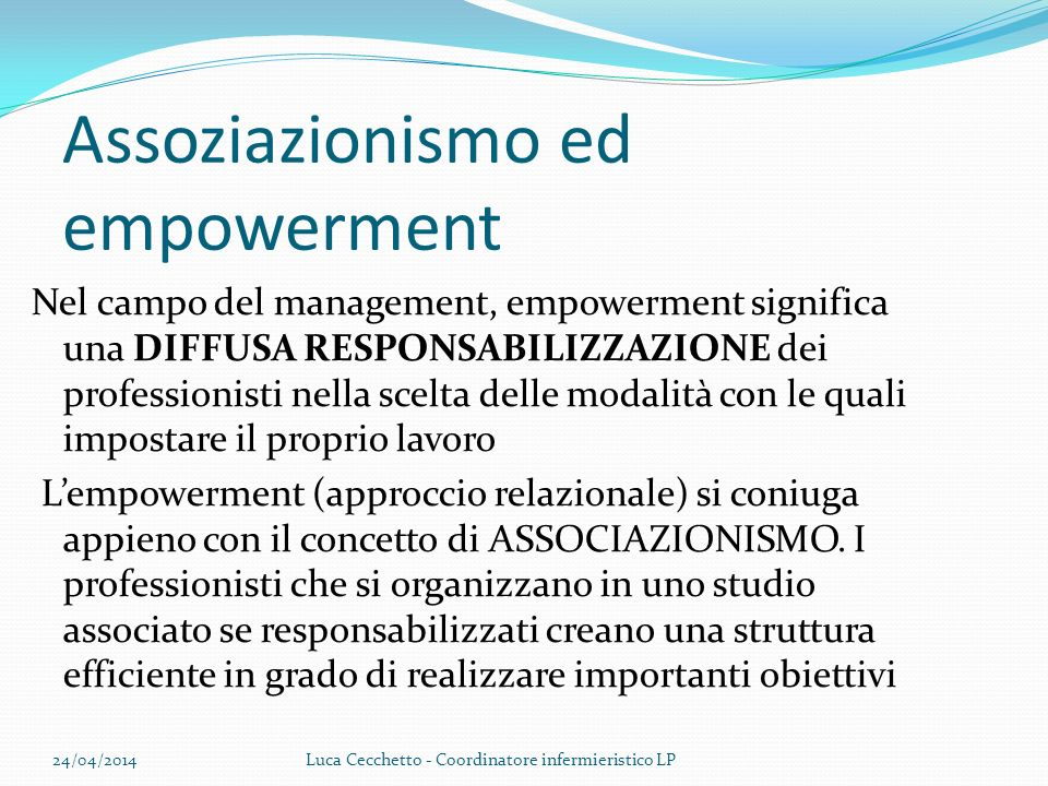 Assoziazionismo ed empowerment