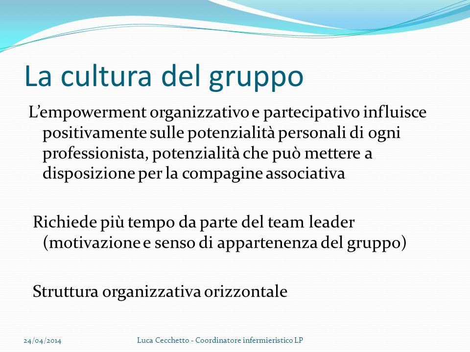 La cultura del gruppo