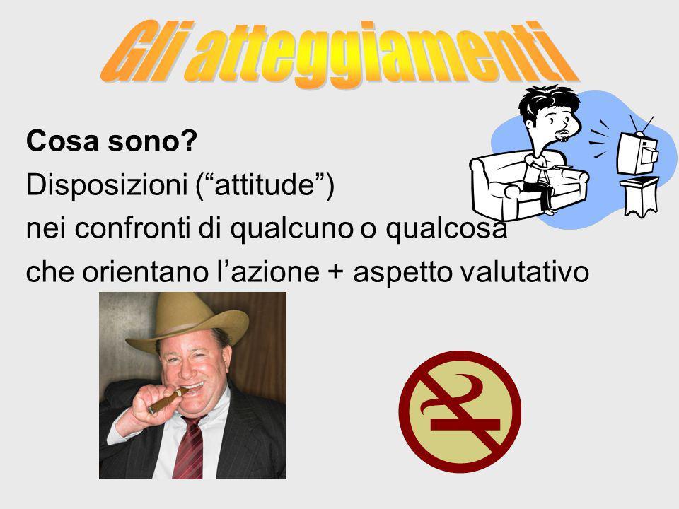Gli atteggiamenti Cosa sono Disposizioni ( attitude )