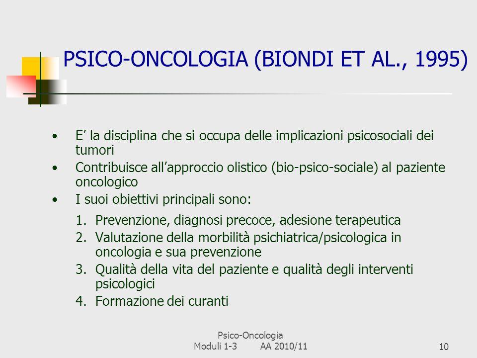 PSICO-ONCOLOGIA (BIONDI ET AL., 1995)