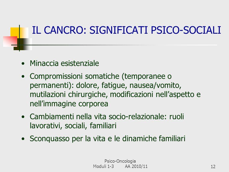 IL CANCRO: SIGNIFICATI PSICO-SOCIALI