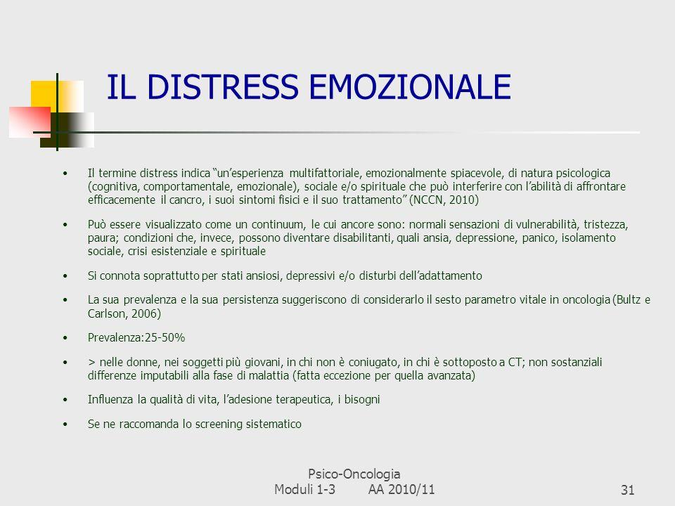 IL DISTRESS EMOZIONALE