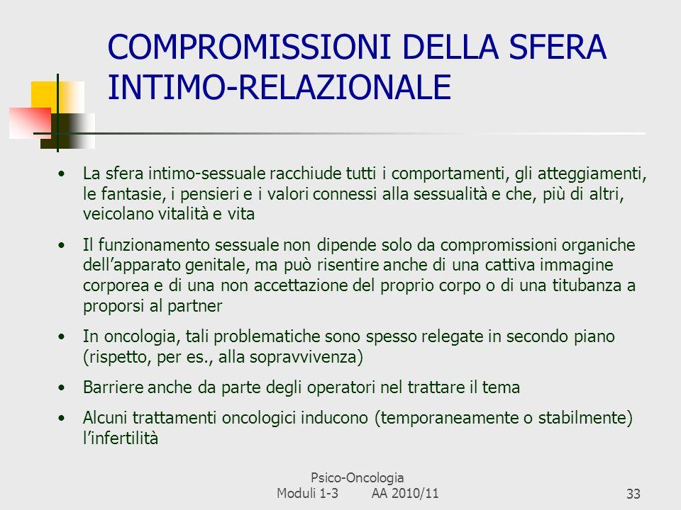 COMPROMISSIONI DELLA SFERA INTIMO-RELAZIONALE