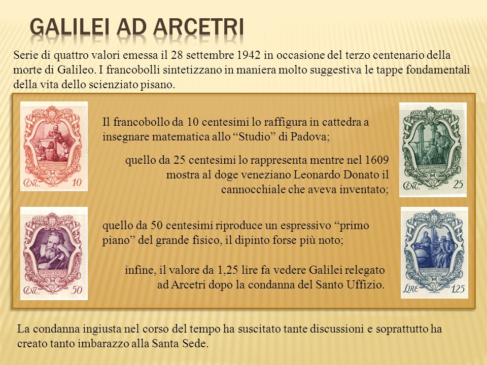 GALILEI AD ARCETRI