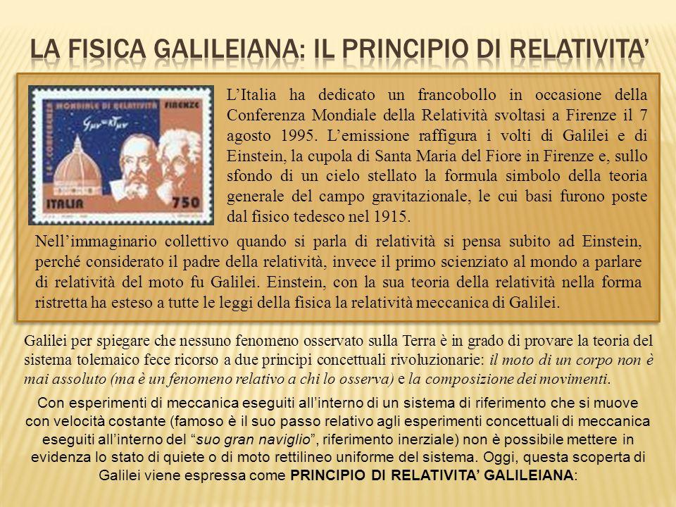LA FISICA GALILEIANA: IL PRINCIPIO DI RELATIVITA'