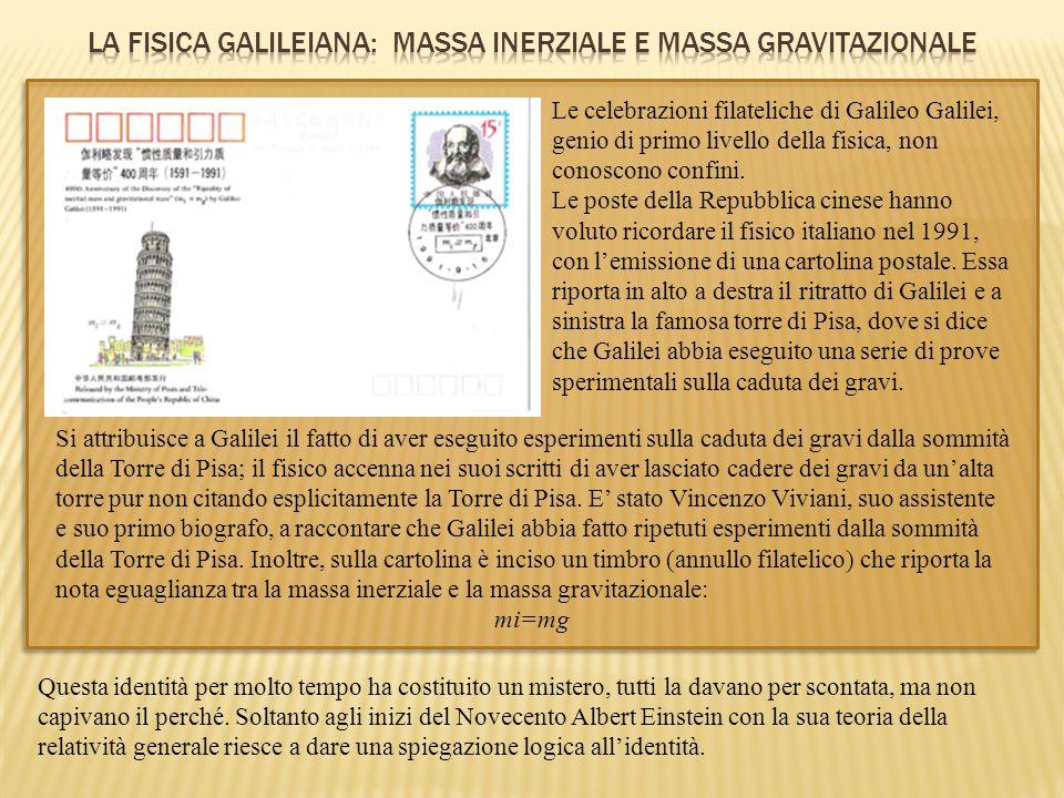 LA FISICA GALILEIANA: MASSA INERZIALE E MASSA GRAVITAZIONALE