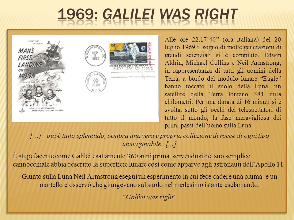 1969: Galilei was right