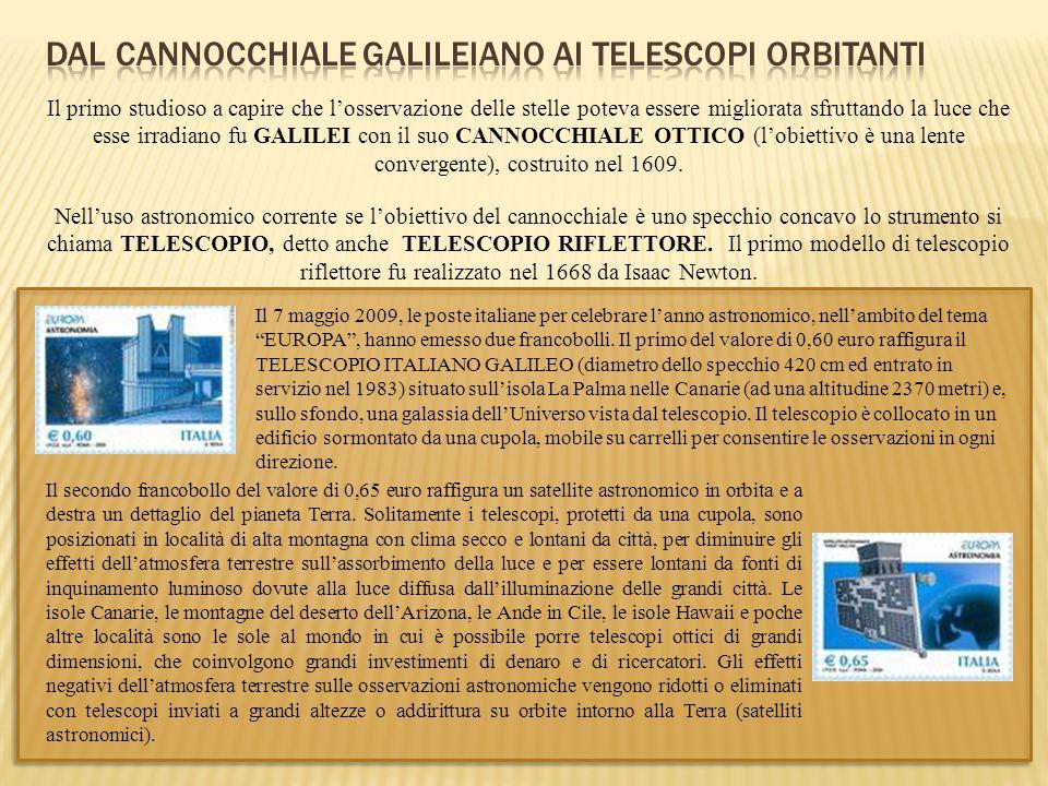 Dal cannocchiale Galileiano ai telescopi orbitanti