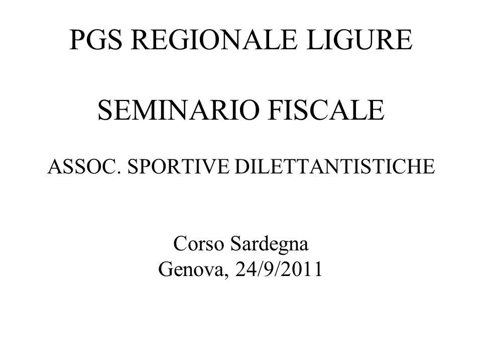 1 PGS REGIONALE LIGURE SEMINARIO FISCALE ASSOC