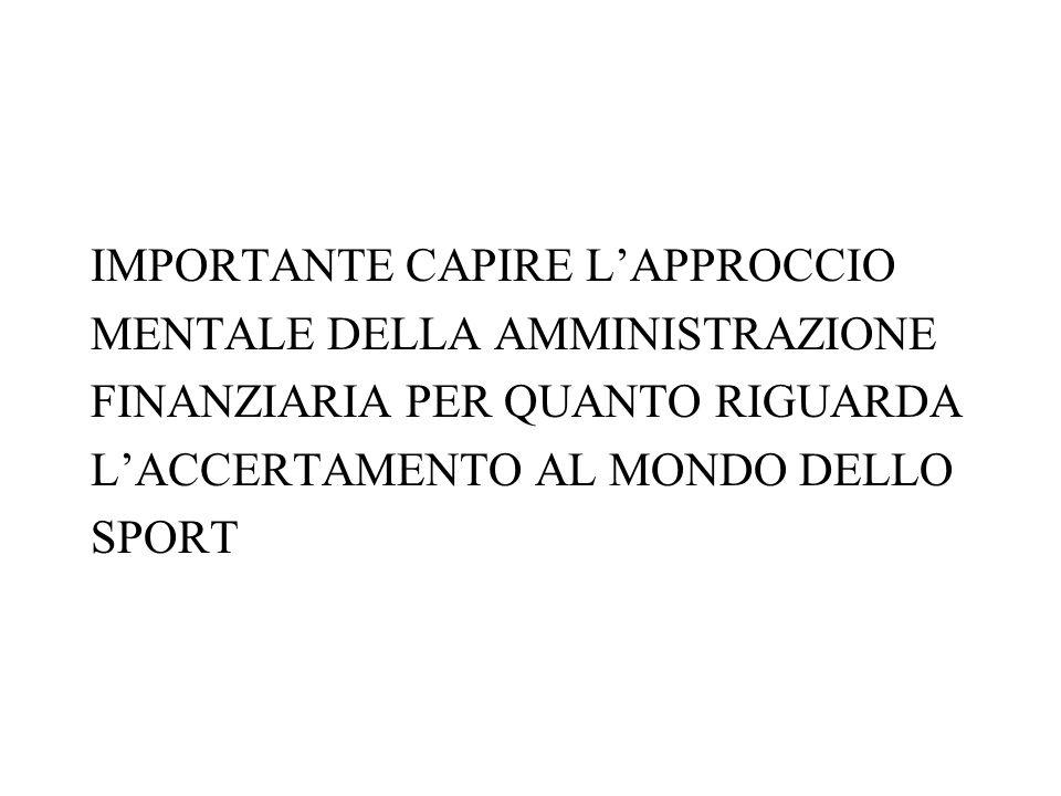 IMPORTANTE CAPIRE L'APPROCCIO