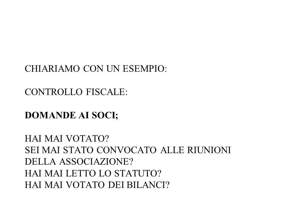 CHIARIAMO CON UN ESEMPIO: