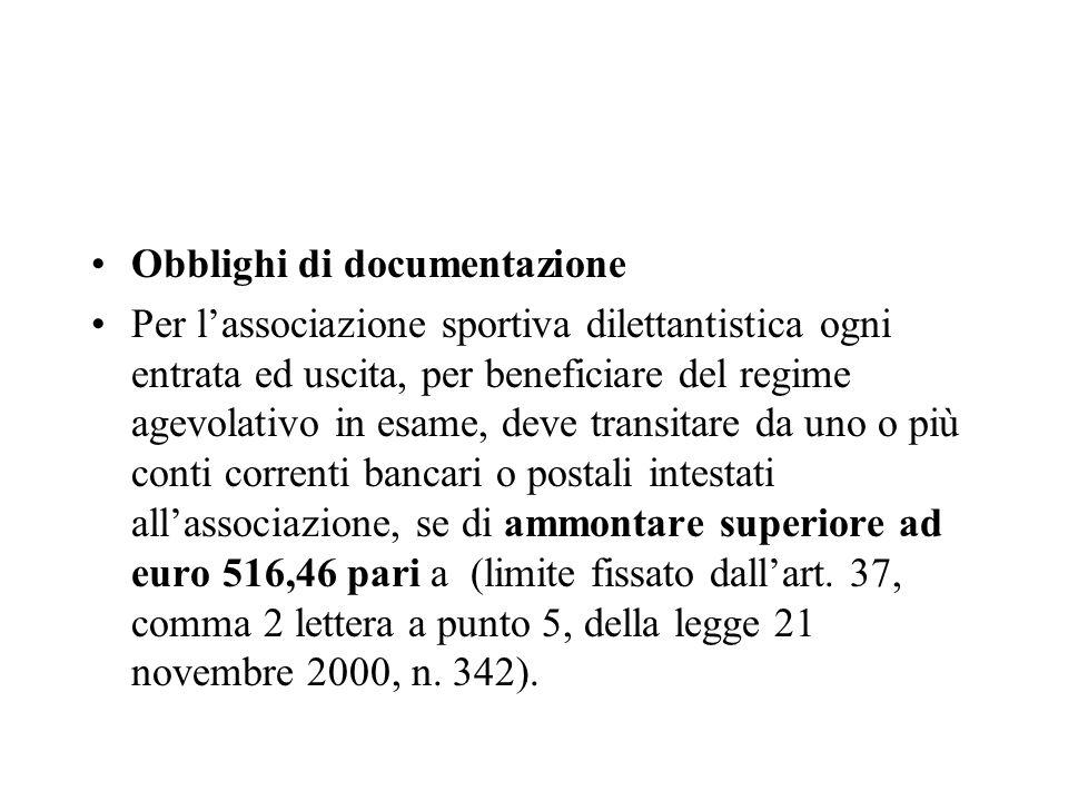 Obblighi di documentazione
