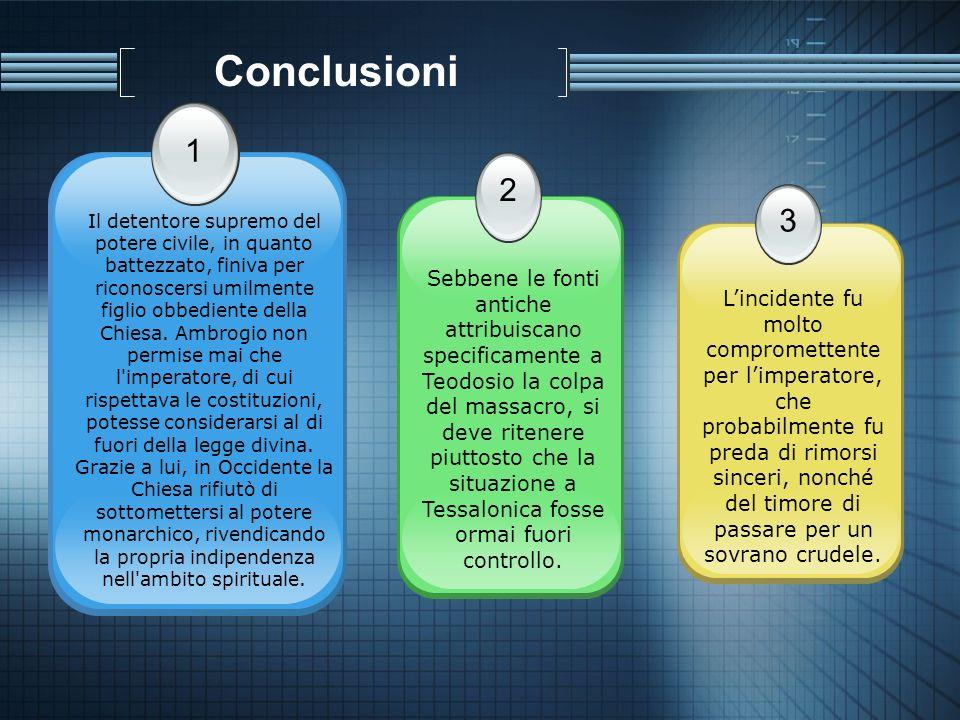 Conclusioni 1. 2.