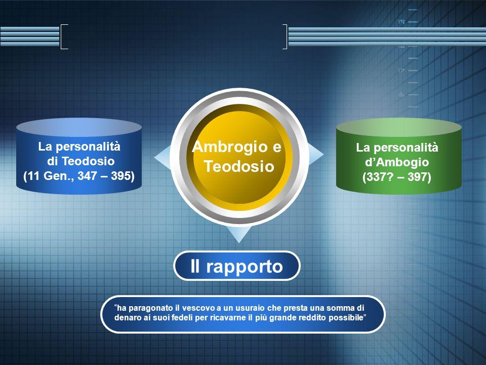 Il rapporto Ambrogio e Teodosio La personalità di Teodosio