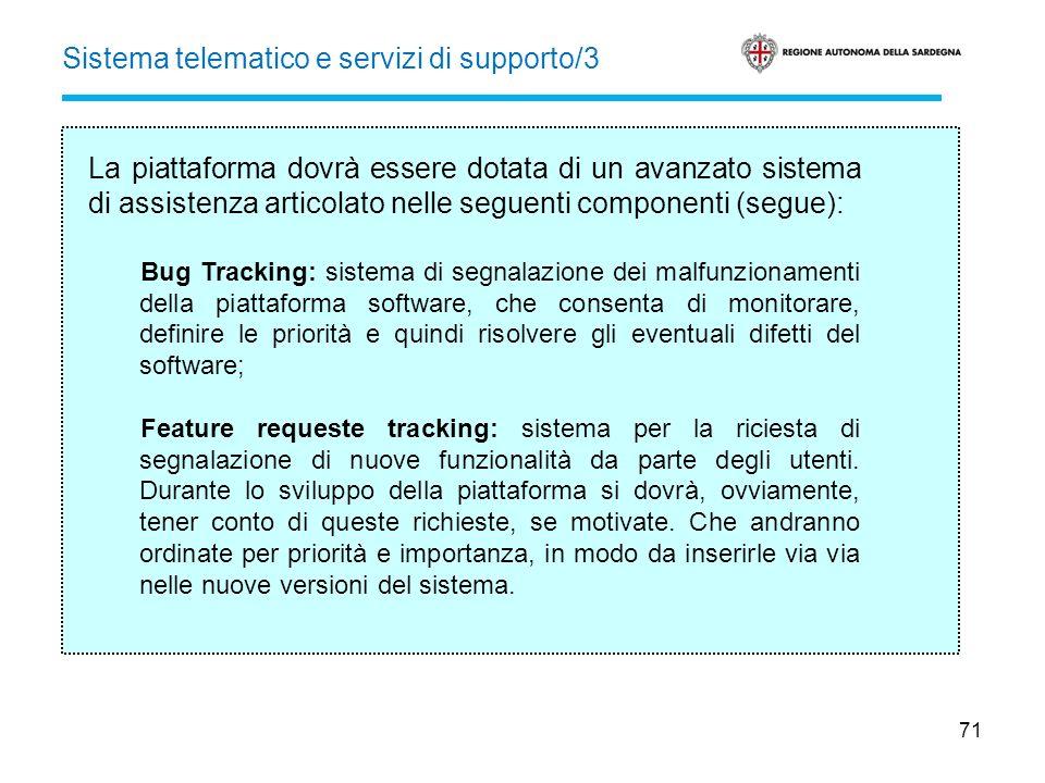 Sistema telematico e servizi di supporto/3