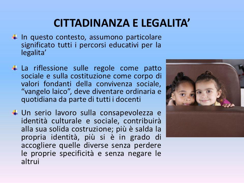 CITTADINANZA E LEGALITA'