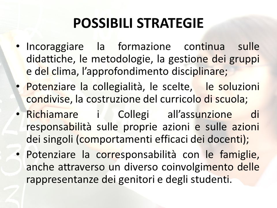 POSSIBILI STRATEGIE