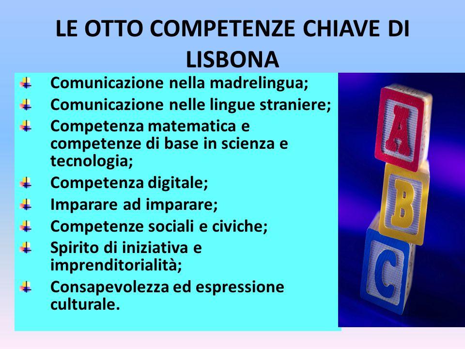 LE OTTO COMPETENZE CHIAVE DI LISBONA