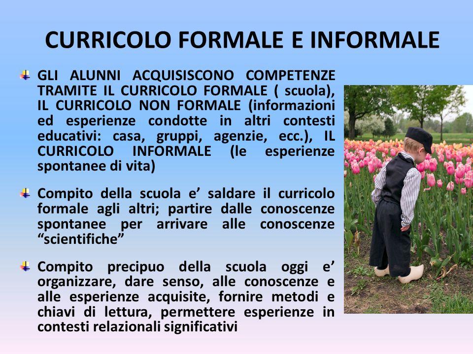 CURRICOLO FORMALE E INFORMALE