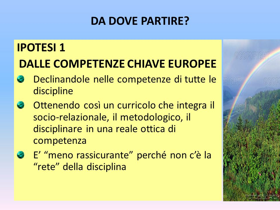 DALLE COMPETENZE CHIAVE EUROPEE