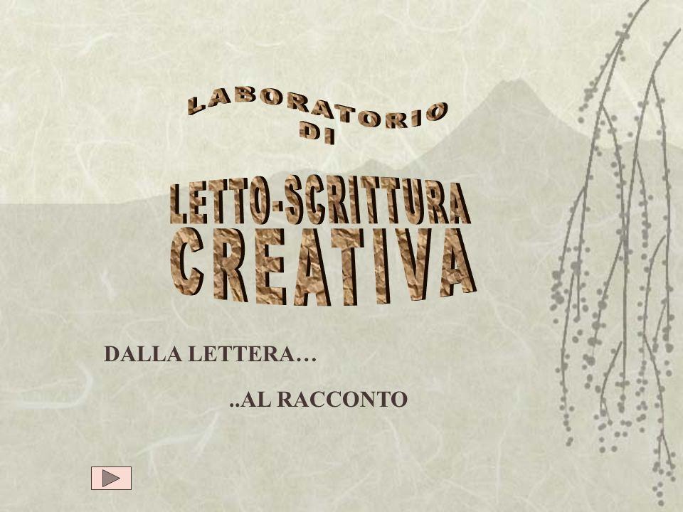 LABORATORIO DI LETTO-SCRITTURA CREATIVA DALLA LETTERA… ..AL RACCONTO