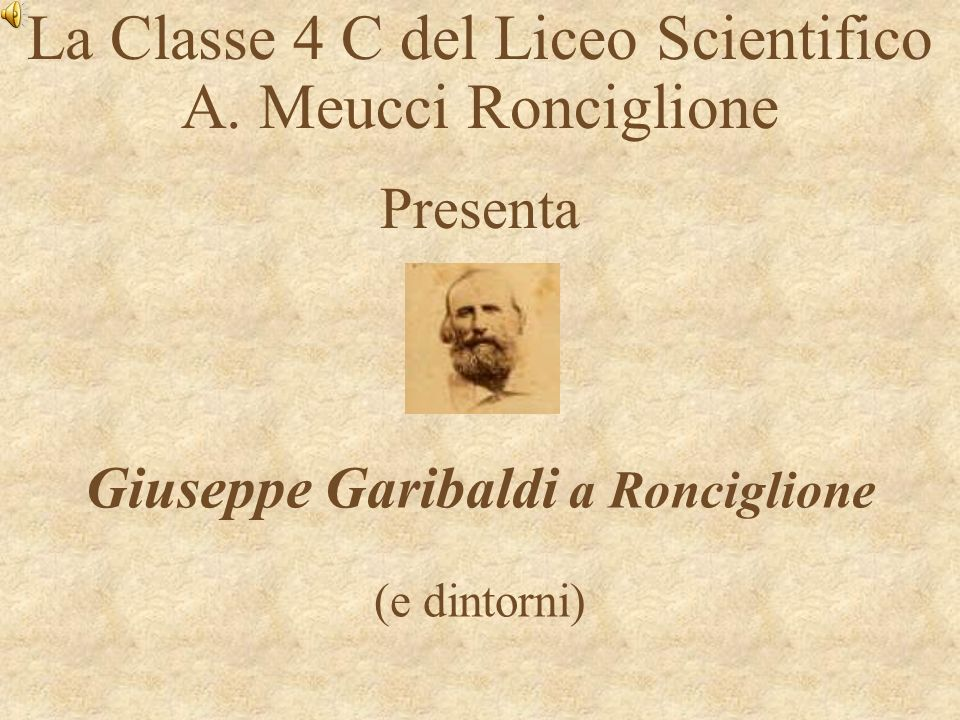 Giuseppe Garibaldi a Ronciglione